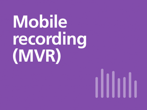 Mobile recording from O2 (MVR)