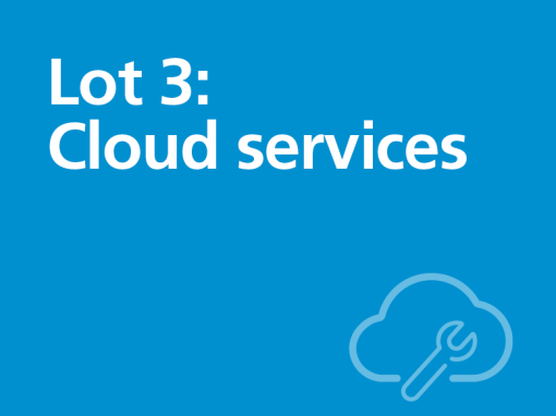 Lot 3: Cloud services