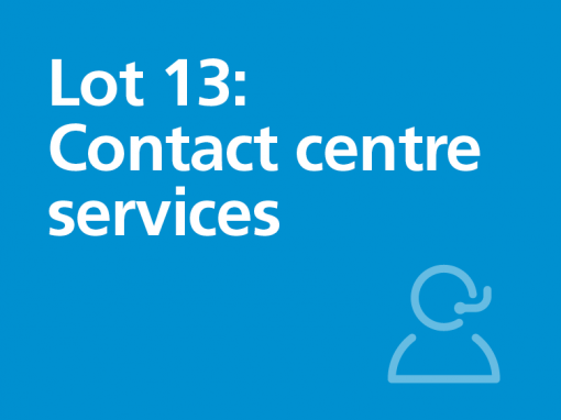 Lot 13: Contact centre services