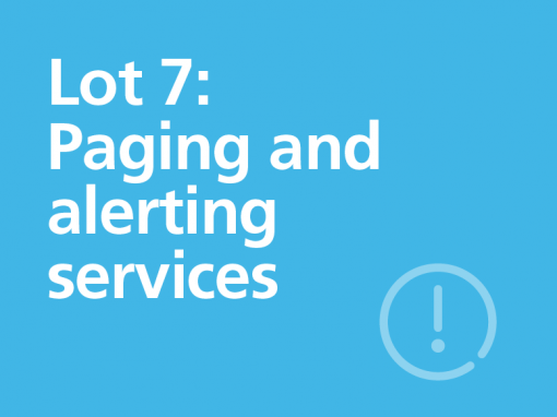 Lot 7: Paging and alerting services