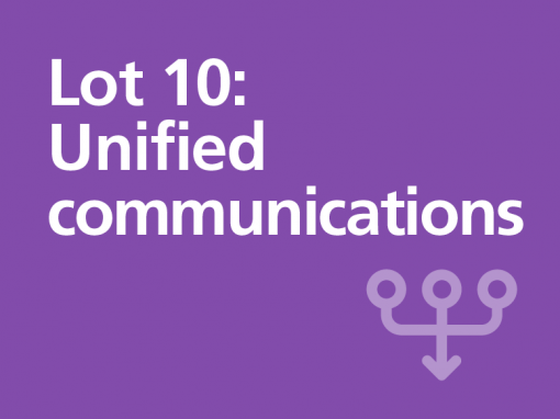 Lot 10: Unified communications
